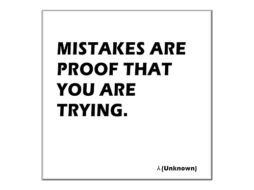 Mistakes are part of the way