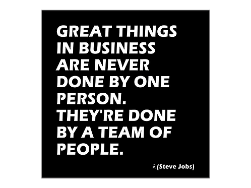 Great things are done by a team
