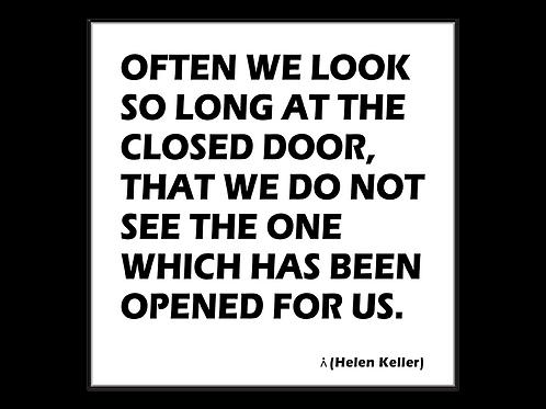 There is always an open door