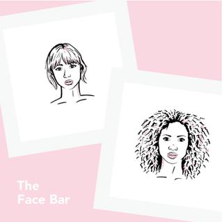 Face Bar Line Art Illustrations