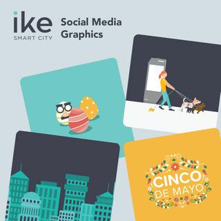 IKE Social Media Illustration graphics