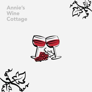 Annie's wine cottage illustration icons