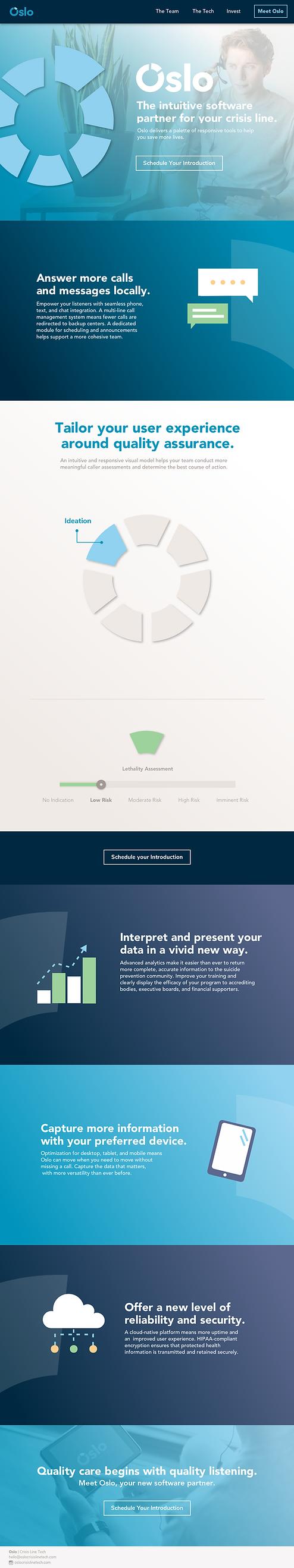 Oslo Crisis Line Technologies website design