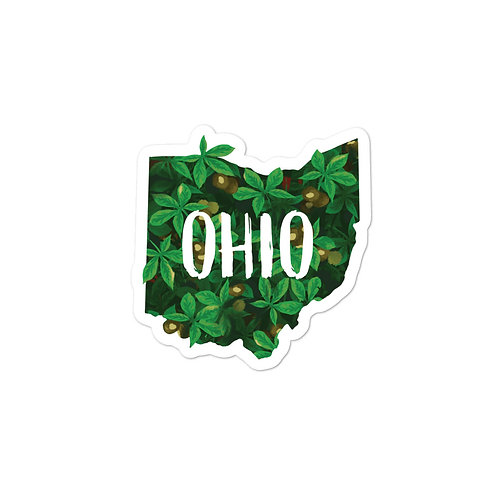 State of Ohio Buckeyes Sticker with Text