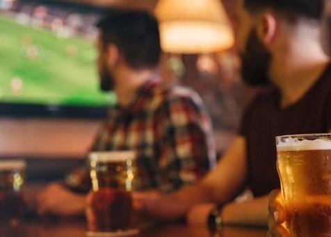 People watching sport