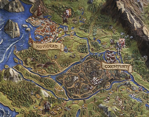 The Northern Realms (detail) from The Witcher