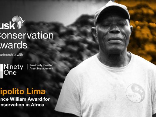 Programa Tatô vence Tusk Conservation Awards