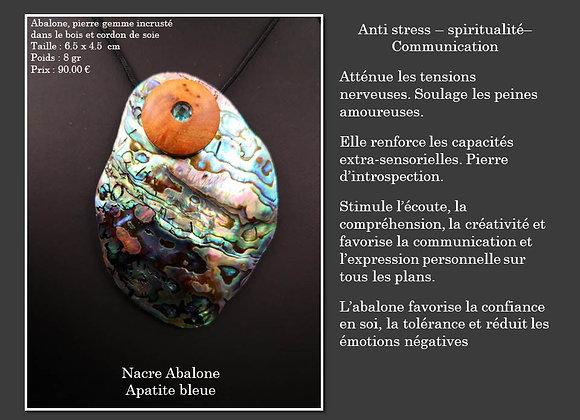 Nacre Abalone Apatite bleue