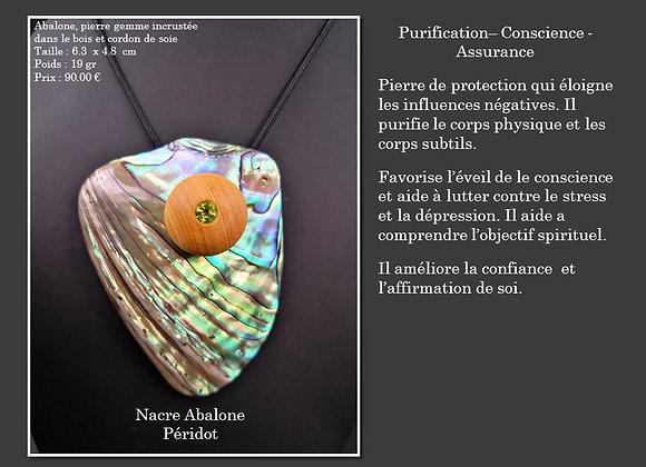 Nacre Abalone Péridot