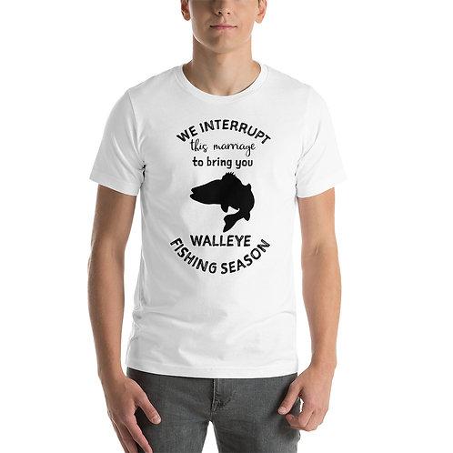 Short-Sleeve Unisex T-Shirt -Walleye Fishing Season