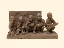 DEJEUNER A L'OMBRE (série Afrique)