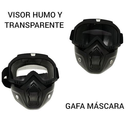 gafas con mascara.