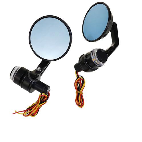 Combo de espejos Café Racer con Pesas LED