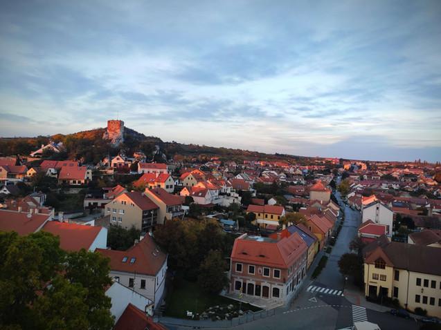 Výhled na Kozí hrádek a ulici Pavlovská