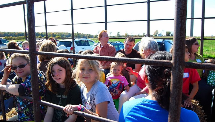 Kids and adults love the hayride