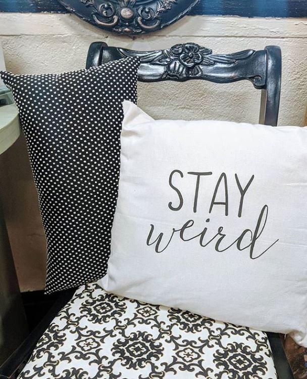 jesses stay weird pillow.JPG