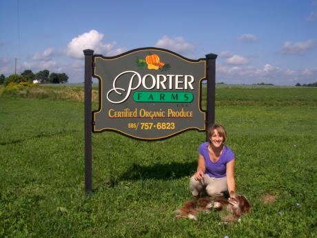 Katie and Porter Farms sign