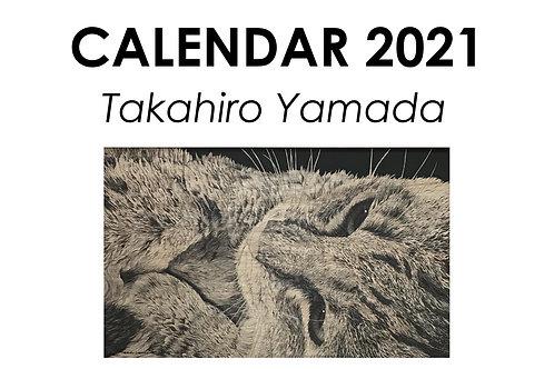 山田貴裕 卓上版 ねこカレンダー2021 ハードケース付き