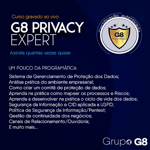 Curso Prático -  G8 Privacy Expert
