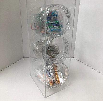 3 in 1 Keychain USB Cable Jar of 30