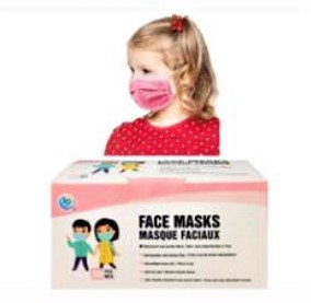 SD KIDS DISPOSABLE FACE MASK 3PLY 50PK