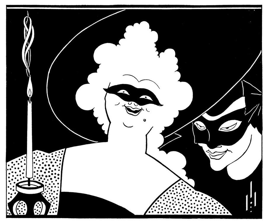 Masquerade, by Aubrey Beardsley