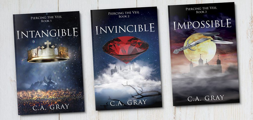 My new audiobook: Invincible; part of the 'Piercing the Veil' Trilogy by C.A. Gray.