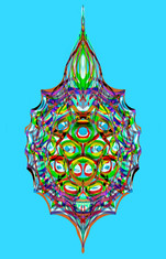 Rainbow Radiolarian Blue