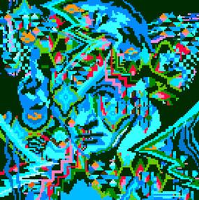 Beethoven Blue Neon