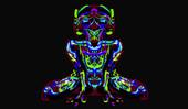 Neon Figure Blue