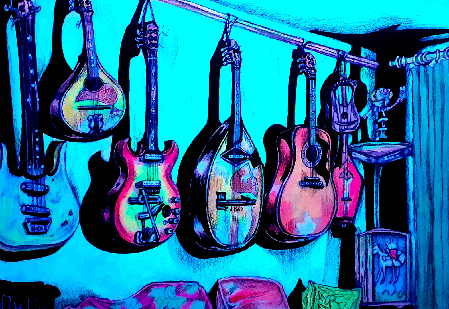 Guitar Wall UV