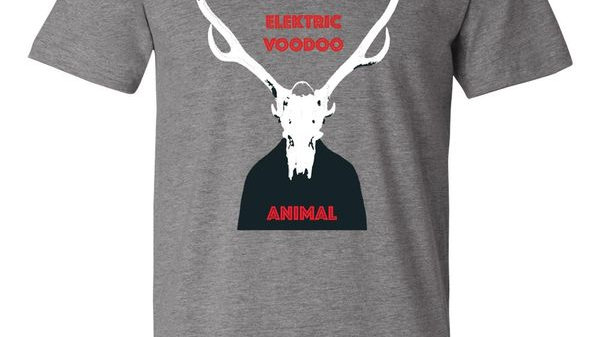 Men's - Deep Heather Grey - Elektric Voodoo - Animal T-Shirt