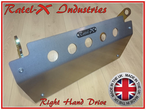 Ratel-X 8mm Aluminium Steering Guard for Land Rover Defender RHD Skid Plate