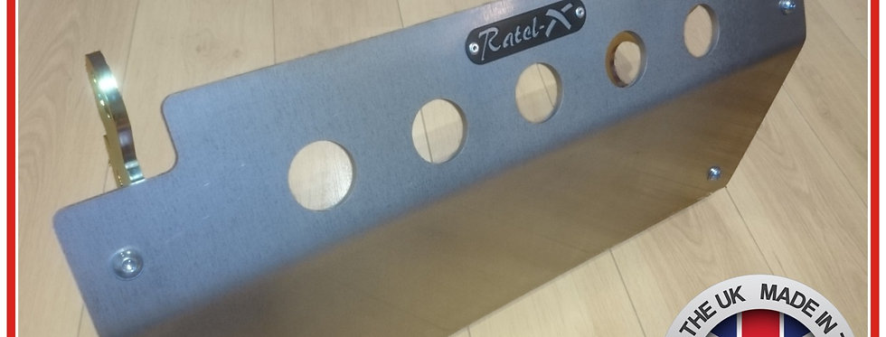 Ratel-X 8mm Aluminium Steering Guard for Land Rover Defender RHD Skid Plate