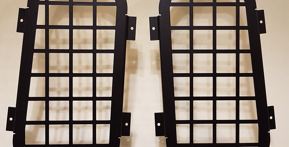 Defender Rear Quarter Glass Window Guard Front View