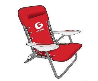 כיסא ים מתכוונן עם רצועות גב