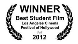 WINNER BEST STUDENT FILM 2012