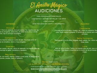 """CONVOCAN A AUDICIONES PARA """"EL ANILLO MÁGICO"""""""