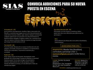 AUDICIONES Espectro Mayo 20 y 21 Convocatoria