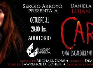 """Llega por primera vez a Puebla """"Carrie el Musical"""" - Claudia Cisneros"""