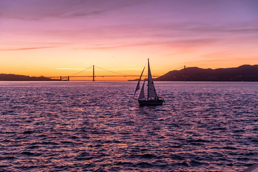 Sunset view of the Golden Gate Bridge