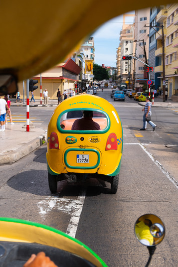 Coco taxi in Havana