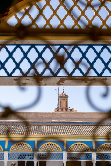 Peek on the mosque from Bahia Palace