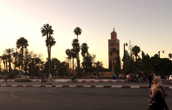 Sunset view of the Koutoubia