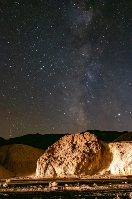 Under the stars in Death Valley