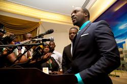 Press conference in Ouagadougou