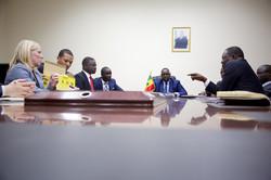 Meeting the President of Senegal