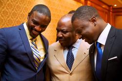 Chatting with President Ali Bongo