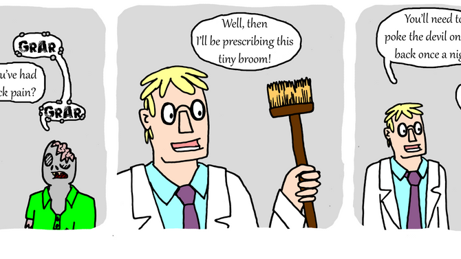 Zombie collects obscure medical conditions