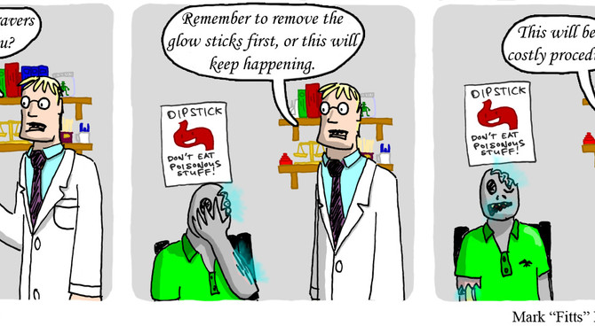 Zombie is experiencing uncomfortable symptoms